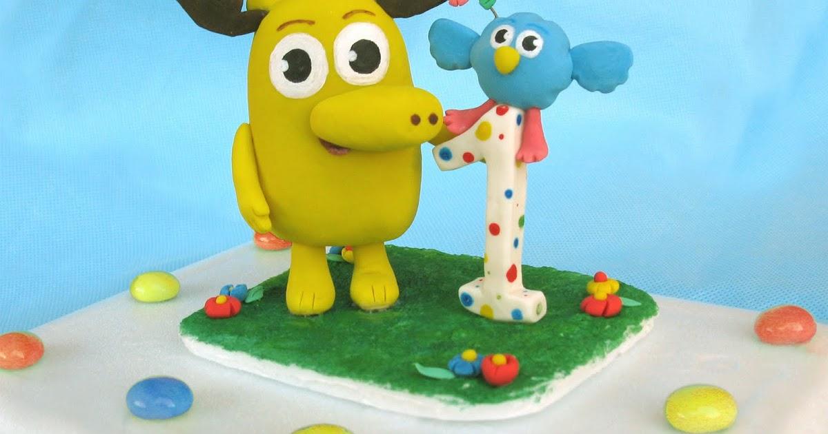 Work in progress: Moose Zee first birthday cake toppers