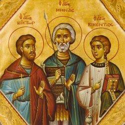 Άγοι Μηνάς, Βίκτωρ και Βικέντιος