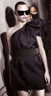 Black Taffeta one-shoulder dress from the | Lanvin H&M | Designer | Fashion | Collection