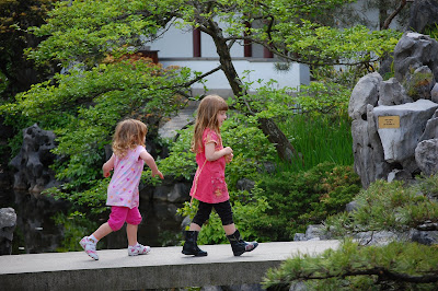 couple of kids at Sun Yat Sen Gardens, Strathcona, Vancouver