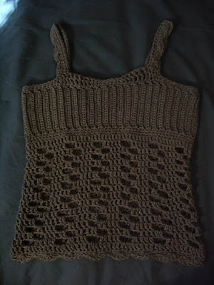 Tank Top Knitting Patterns : 47s Knitting and Crochet Patterns: Custom Tank Top Version #2