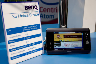 BenQ MID updated. Named as S6 Mobile Device