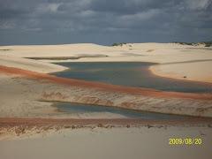 Lagoas interdunares aterradas pelas eólicas - Cumbe - Aracati