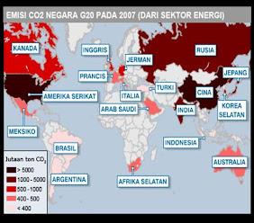 Peta Emisi Negara G2O