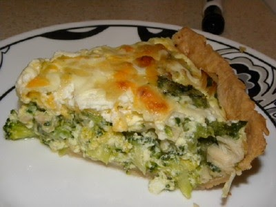 ... with Super Pickle: Sour Cream Chicken Quiche with Broccoli and Spinach