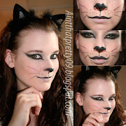 Halloween Cat Make up.