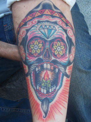 candy skull tattoo. candy skull tattoo. mexican