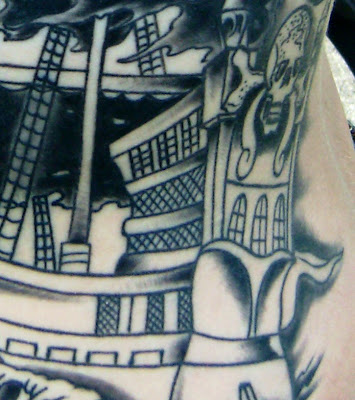 Color Tattoos by Dan large pirate ship large pirate ship giant pirate flag