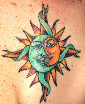 tribal sun and moon tattoo elite ink tattoos organic tattoo ink