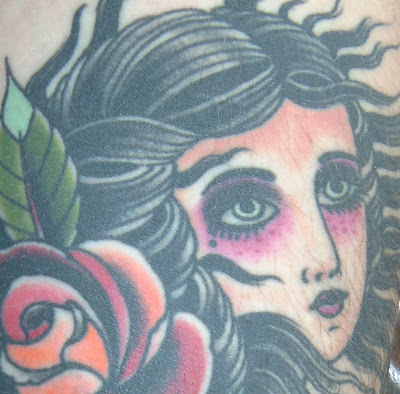Label: gypsy lady tattoo or girl tattoo