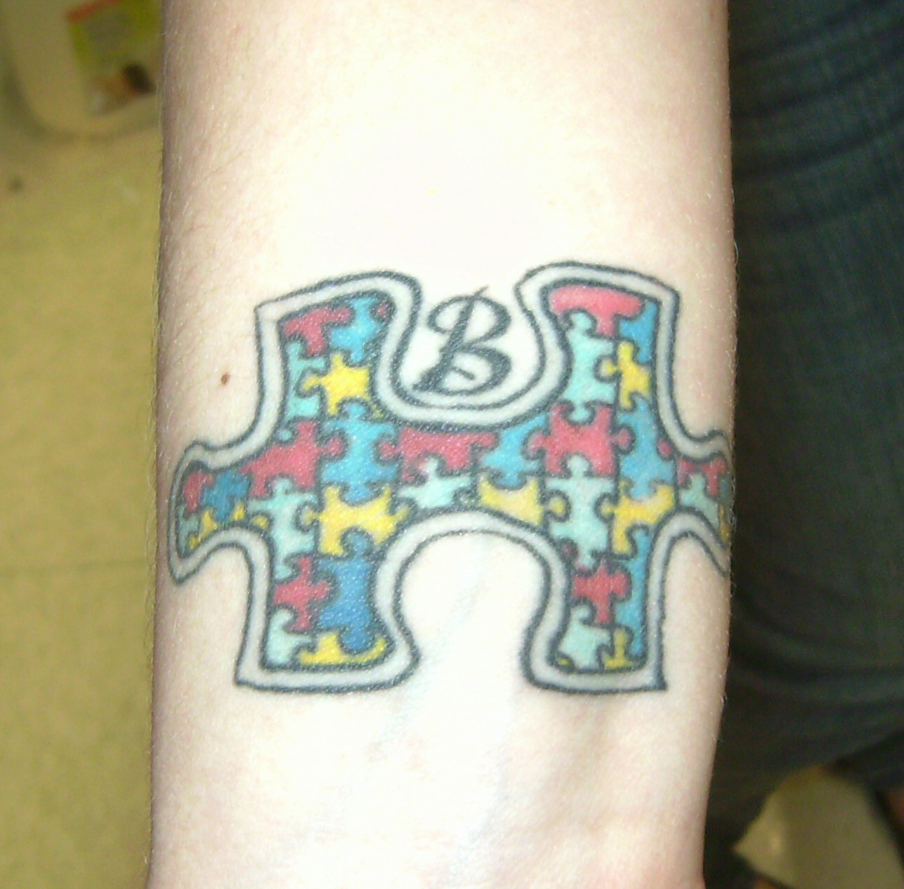 Tattoosday (A Tattoo Blog): Kristen\'s Puzzle Piece