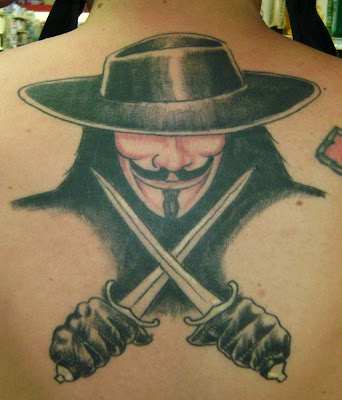 V for Vendetta tattoo in  V For Vendetta Tattoo Tumblr