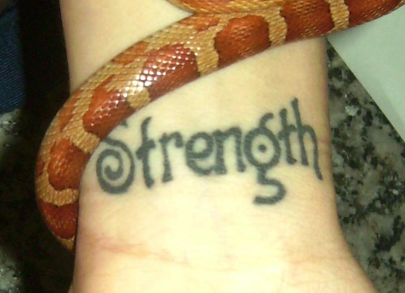 Tattoo Words Strength Wrists