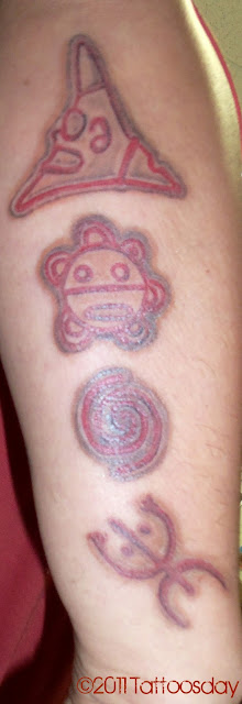 This is what Paul had tattooed on his right forearm: