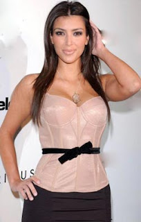 Socialite Kim Kardashian happy being single