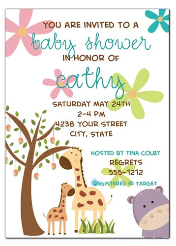 invitations baby shower invitation jungle theme with matching favor