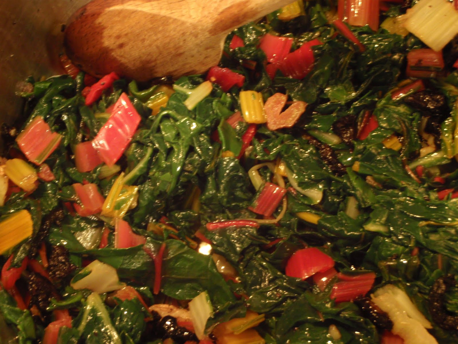 Vin de Pêche: Swiss Chard with Olives and Lemon