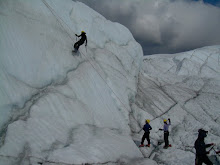 Ice climbing in Matanuska Glacier