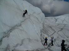Ice climbing in Matanuska Glacier
