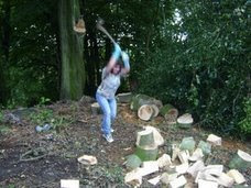 Log Splitting Charity Day