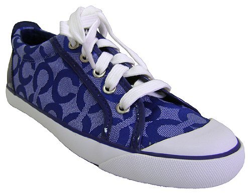 tennis shoes coach barrett alex op blue tennis shoes