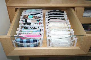 Organizar para viver melhor organizando a lingerie - Como organizar un armario pequeno ...