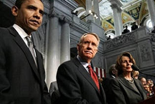 Andy Stern with Obama and Pelosi