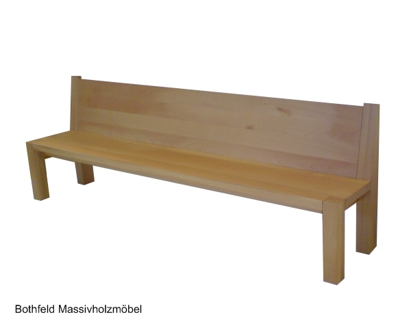 Bothfeld Massivholzmöbel: Bank aus Buche Massivholz