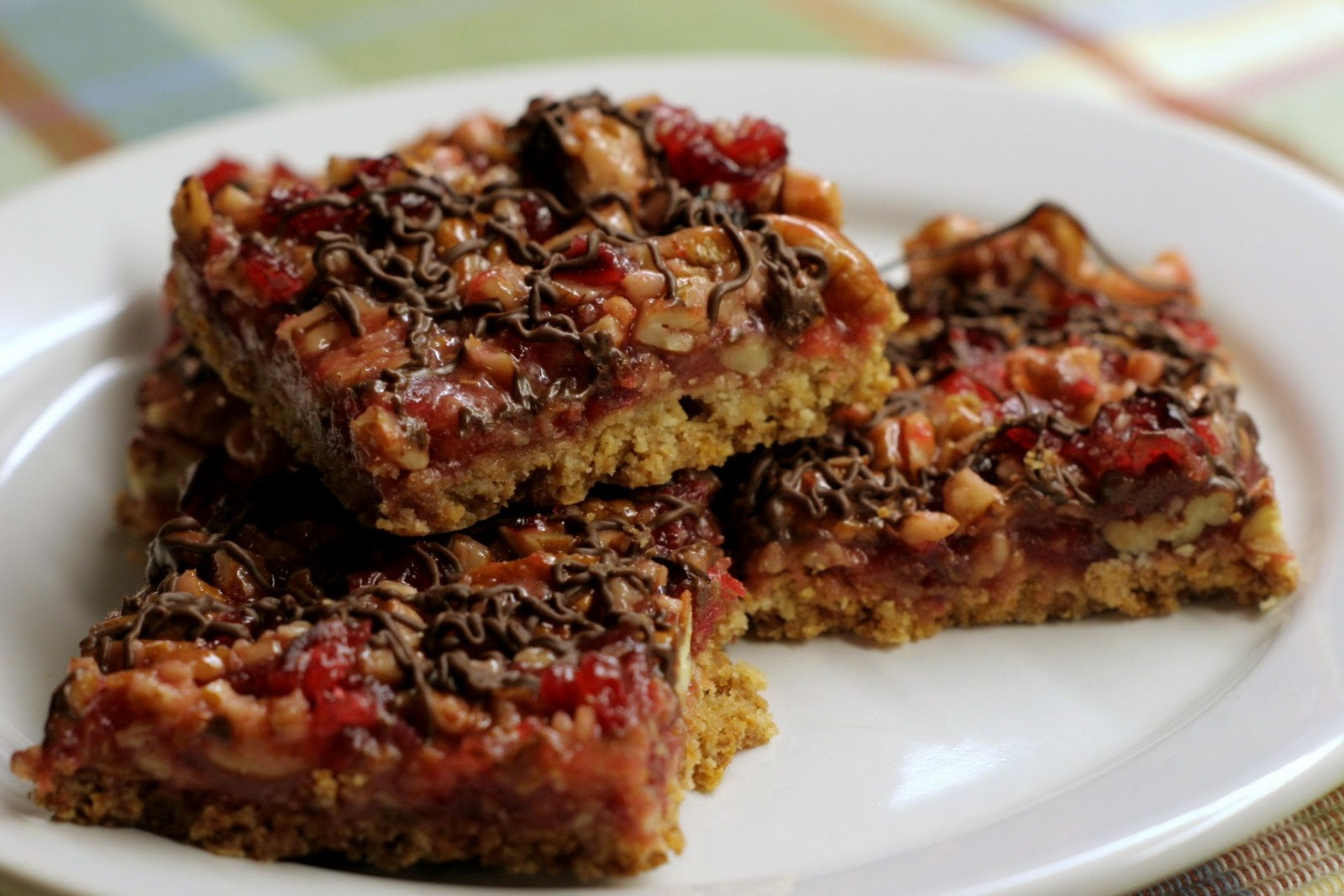 Four seasons of food: Cranberry pecan caramel bars