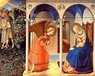 'La Anunciación', cuadro de Fra Angelico (Museo del Prado)