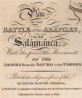 Detalle de un plano inglés de la batalla de los Arapiles