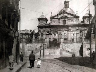 La iglesia de Santa Bárbara hacia 1930