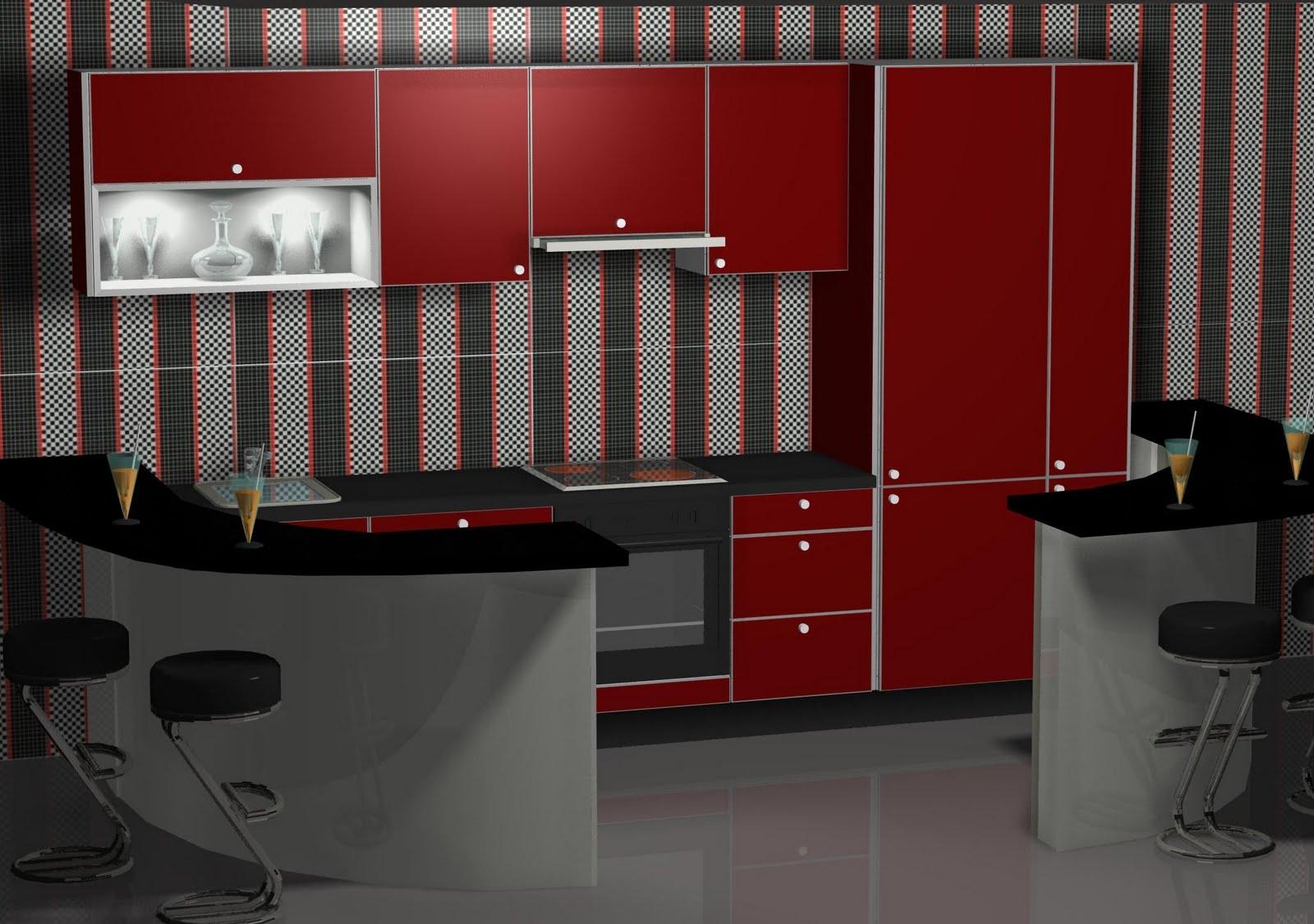 Dise o de cocina con barra americana for Disenos de barras