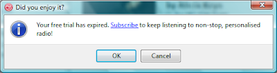 last.FM trial period expired