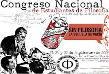 I CONGRESO NACIONAL DE ESTUDIANTES DE FILOSOFÍA 2009 - CHILE