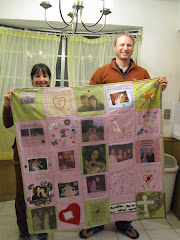 Quilt  made by family and friends