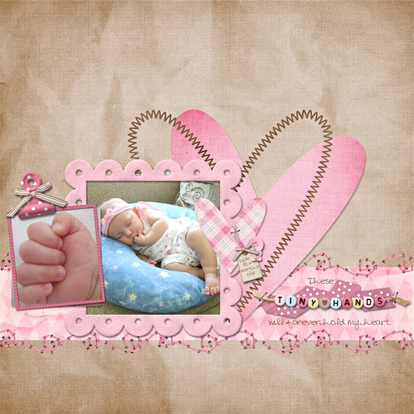 Baby Girl Scrapbook Page Layout Ideas