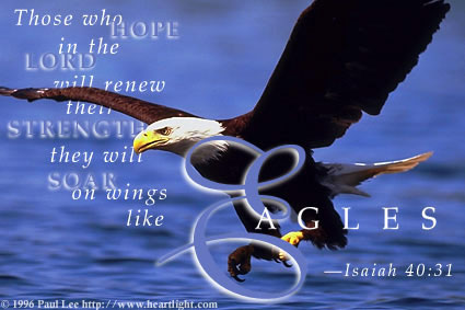 With Wings Like Eagles. Soar On wings like Eagles