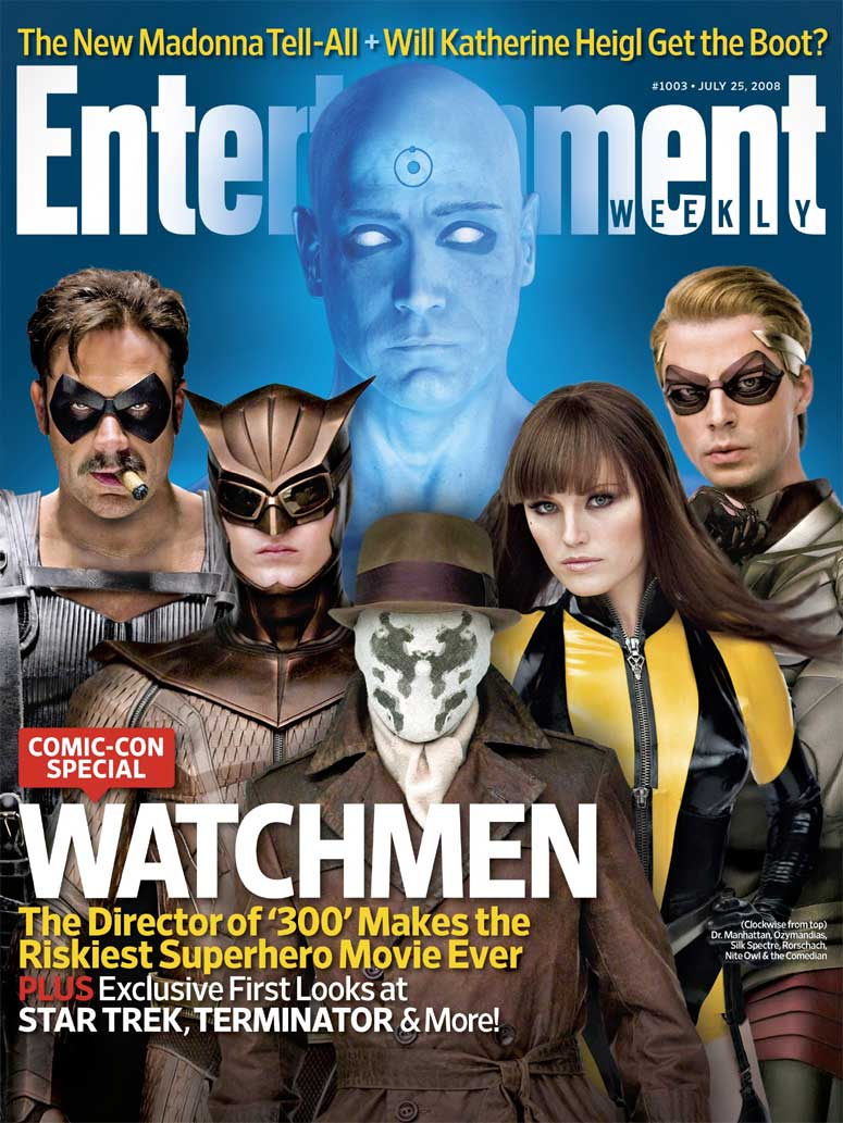 Watchmen movie is taken from the comic story by Alan Moore and Dave ...