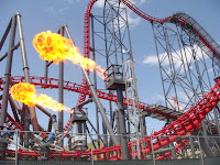 X2 Fire Effect - Magic Mountain