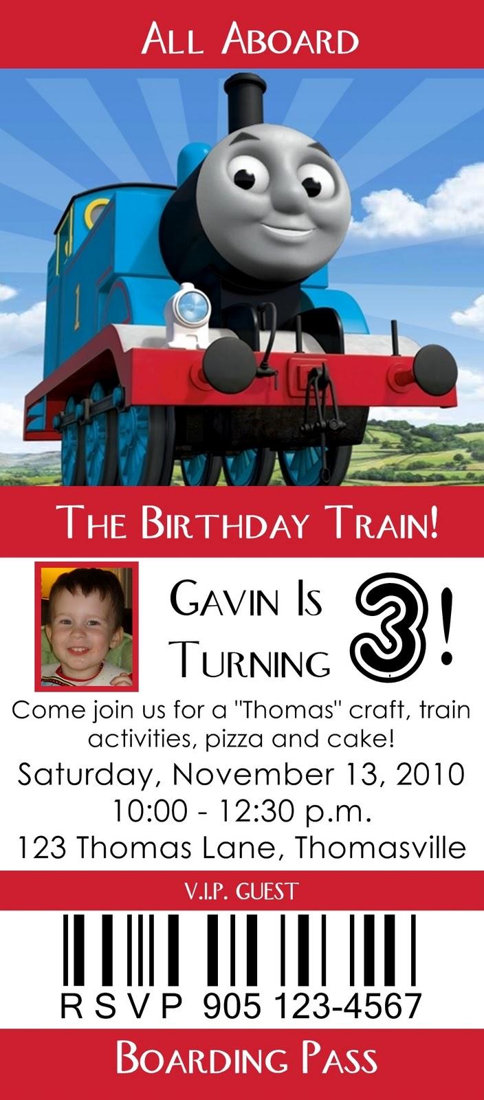 Attractive Train Ticket Birthday Invitations Component - Invitations ...