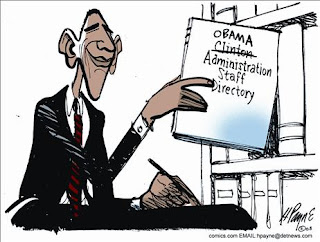 Obama using the Clinton Staff Directory