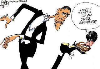 Blago stuck on Obama