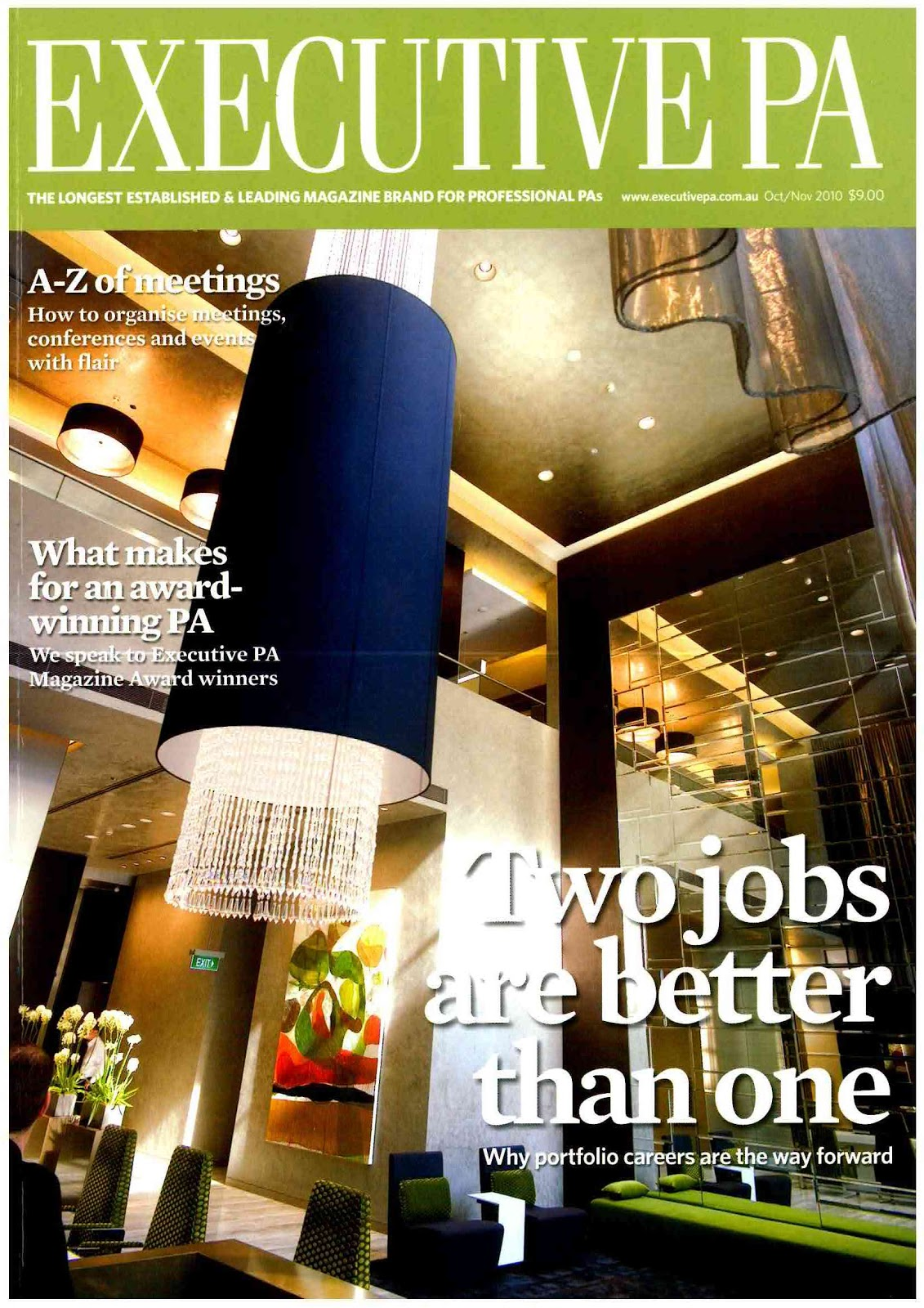 sadhbh warren portfolios and pas executive pa magazine piece featured cover story