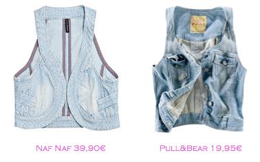 Chalecos: Naf Naf 39,90€ - Pull&Bear 19,95€