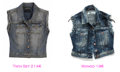 Chalecos: Twin-Set 214€ - Mango 19€