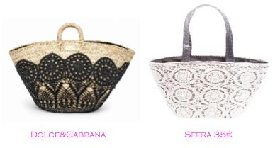 Capazos trendy: Dolce&Gabbana - Sfera 35€
