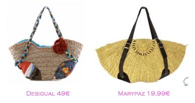 Capazos trendy: Desigual 49€ - Marypaz 19,99€
