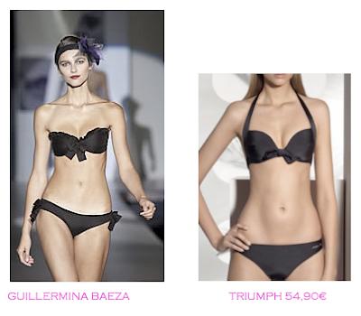 Comparativa precios bikinis para mucho pecho: Guillermina Baeza vs Triumph 54,90€