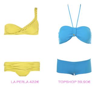 Comparativa precios bikinis para mucho pecho: La Perla 422€ vs TopShop 39,90€